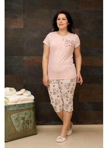 Hays Plus Size Penye Kadın Kapri Pijama Takımı